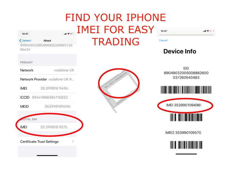FIND YOUR IPHONE IMEI FOR EASY TRADING