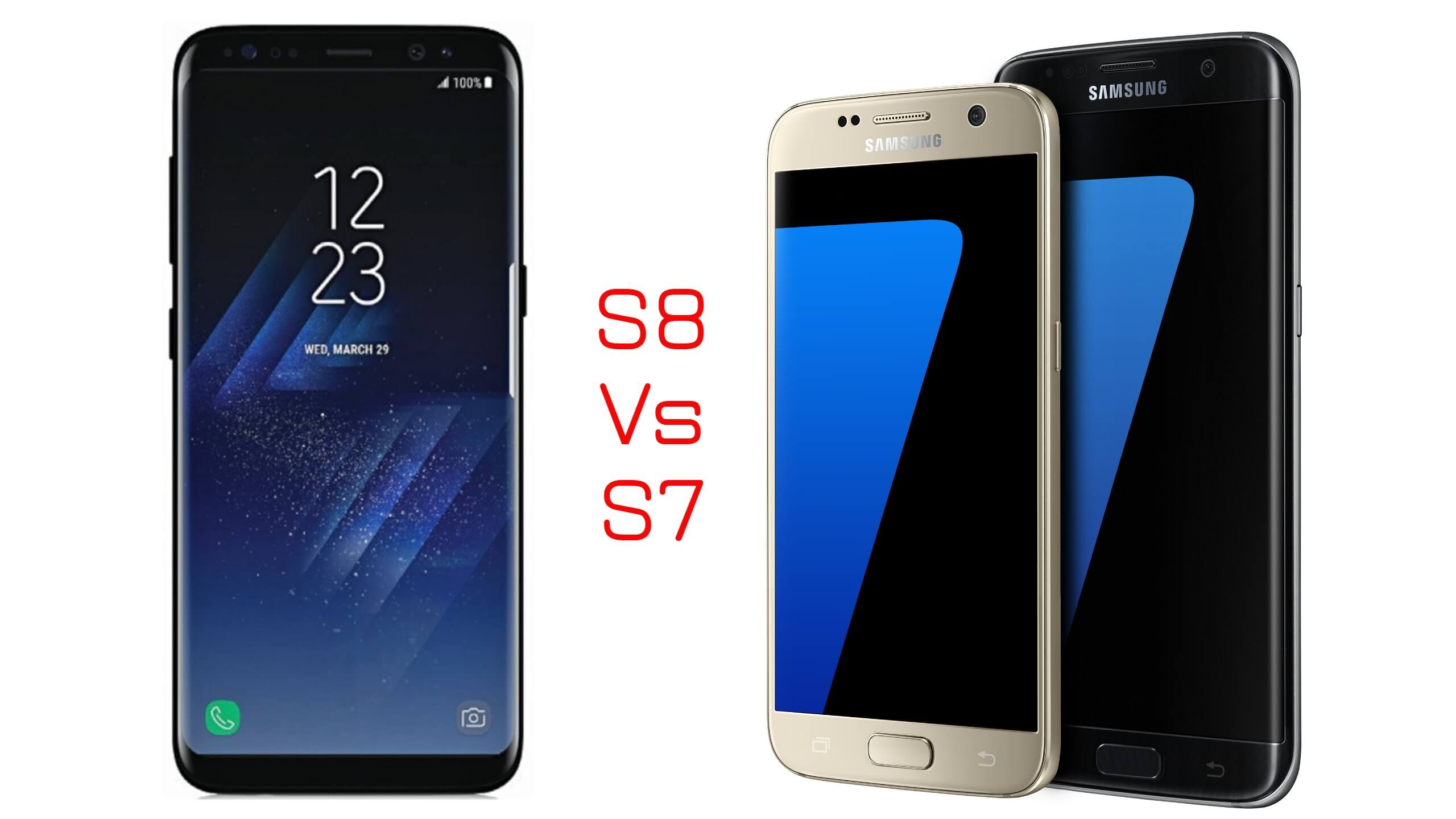 Comparing Samsung Galaxy s7 with Samsung Galaxy S8